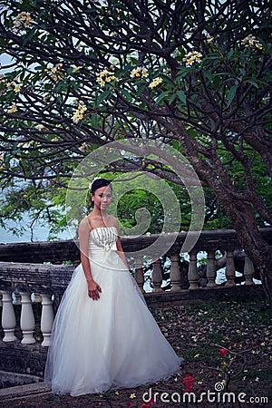 Women in white dress bride