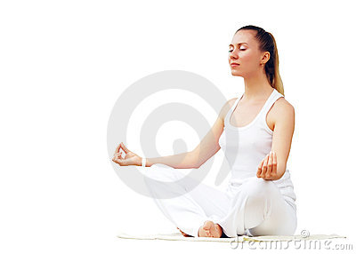 Women in white - relaxation