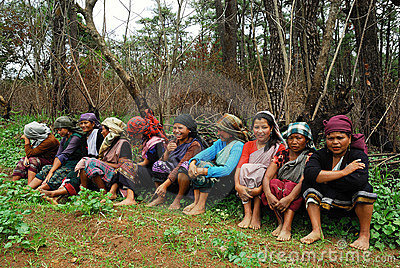 Women worker at Northeast India Editorial Photography