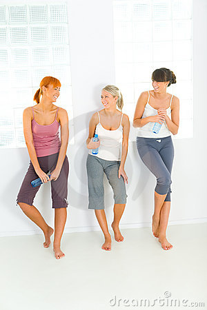 Women after workout