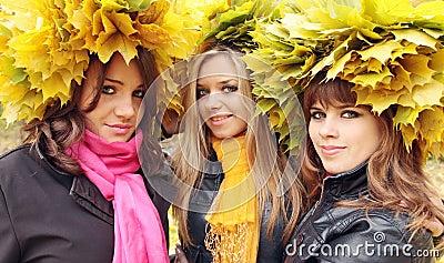Women in the wreaths