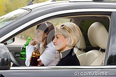 Womens in car
