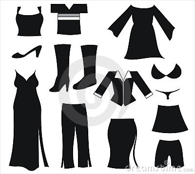 Womens clothing black icons