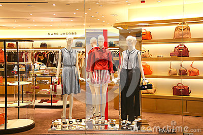 Womens clothing on display Editorial Stock Photo