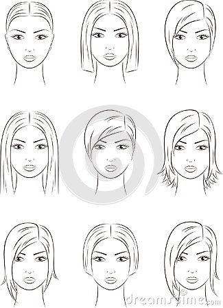 womens faces stock photos