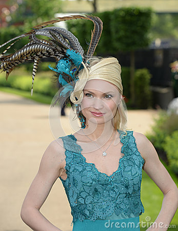 Womens fashion at Royal Ascot Races  Editorial Stock Image