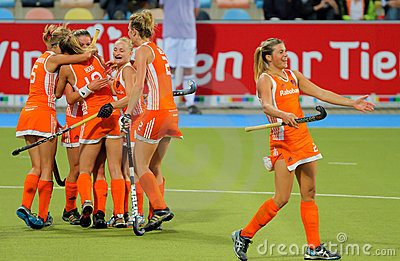 Womens Finals.Hockey European Cup Germany 2011 Editorial Photo