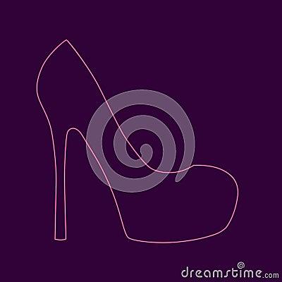 Free Womens High Heel Shoe Stock Image - 104225201