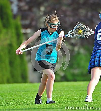 Womens Lacrosse face off