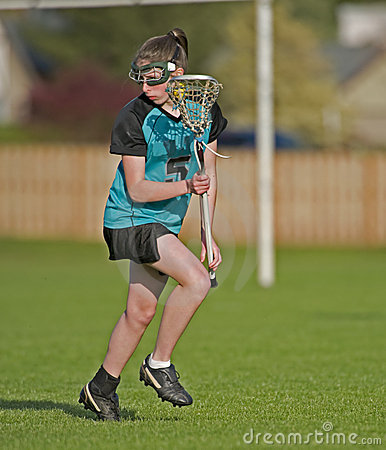 Womens Lacrosse Player