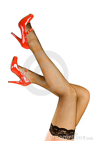 Free Womens Legs And Red Shoes Royalty Free Stock Photos - 9823978