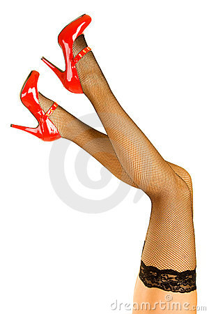 Womens legs and red shoes