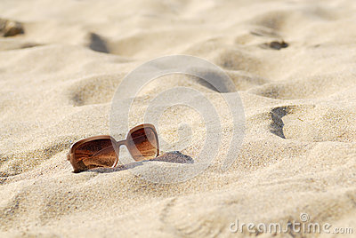 Womens Sunglasses on Sand.