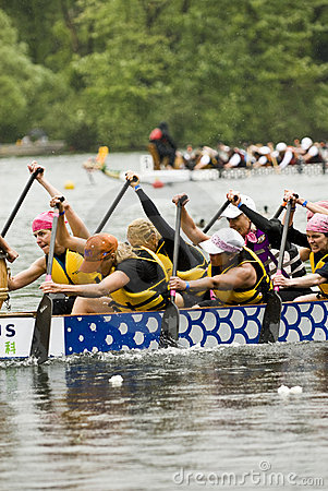 The Wonder Bra s Dragon Boat racing Editorial Stock Photo