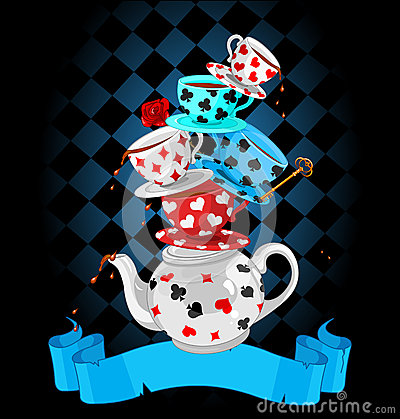 Free Wonder Tea Party Pyramid Design Royalty Free Stock Photo - 39826445