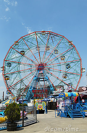 Wonder Wheel at the Coney Island amusement park Editorial Photo