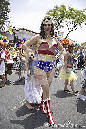 Wonder Woman imitator