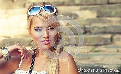 Wonderful blond woman