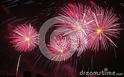 Wonderful Fireworks in thailand