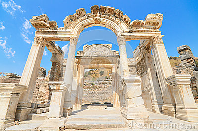 Wonderful Hadrian Temple. Ephesus, Turkey.