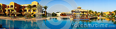 Wonderful  Hotel Swimming Pool In The Egypt. Royalty Free Stock Photos - Image: 26010098
