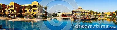 Wonderful  hotel swimming pool in the Egypt.