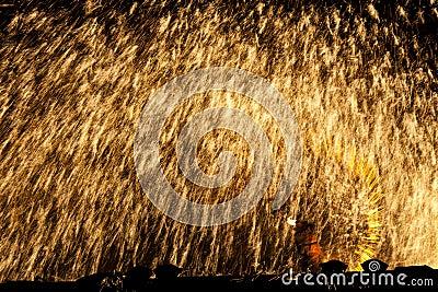 Wonderful iron melt burst