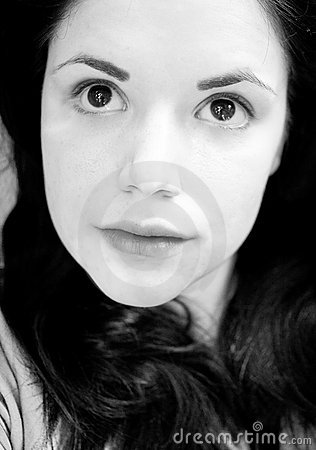 Wondering woman portrait