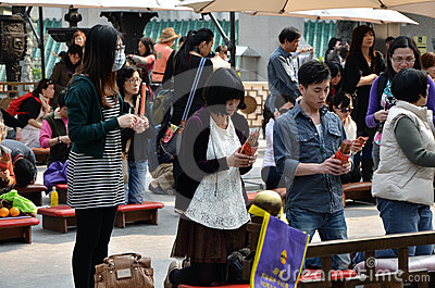 Wong Tai Sin Temple Editorial Stock Photo