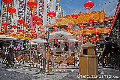 Wong tai sin temple of hong kong Editorial Stock Image