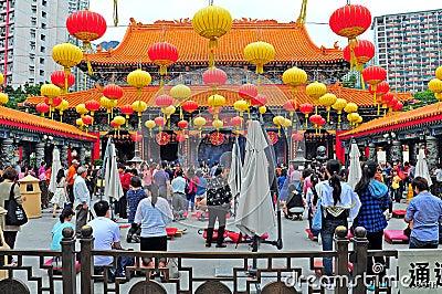 Wong tai sin temple hong kong Editorial Image