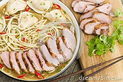 Wonton and Duck Noodle Soup
