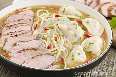 Wonton and Duck Noodle Soup
