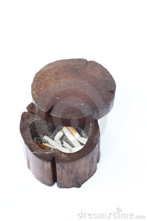 Wood ashtray