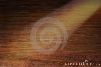 Wood Background With Spotlight