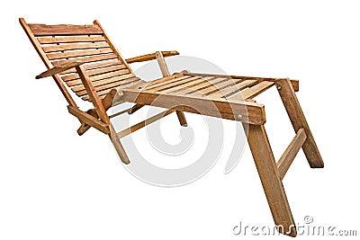 Wood beach chair