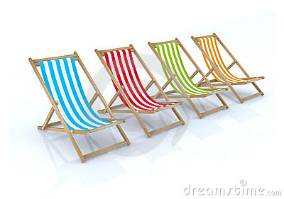 Wood beach chairs various colors
