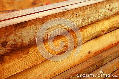 Wood beams Stock Photo