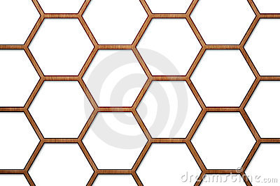 Wood Bee Hive Background