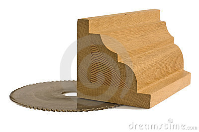 Wood billet for furniture with saw-blade