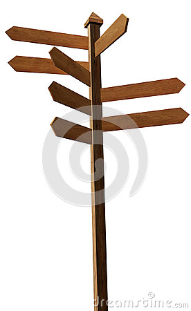 Wood Blank Sign Post Stock Photos - Image: 26040593