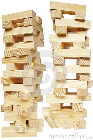 Free Wood Block Tower Stock Photography - 466342