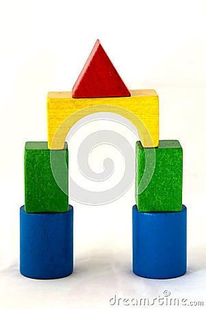 Wood blocks bridge