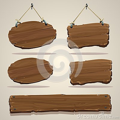 Free Wood Board On The Rope Stock Photography - 47319872