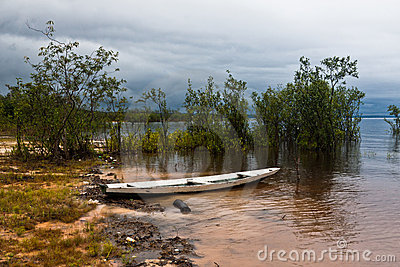 Wood Boat in Manaus