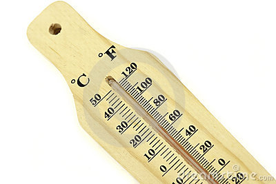A wood bodied thermometer