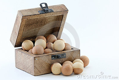 Wood Box and Cedar Balls
