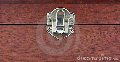 Wood box lock