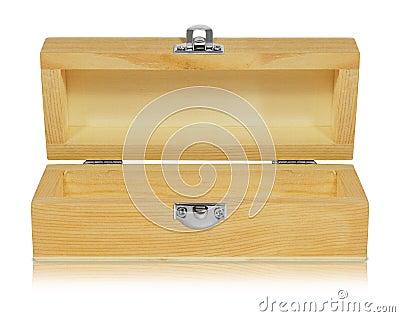 Wood box open