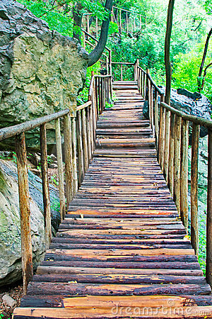 Free Wood Bridge Royalty Free Stock Photo - 19192075